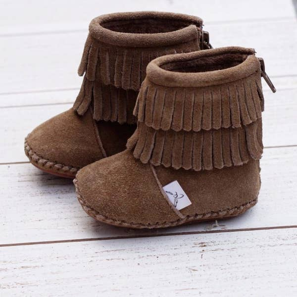 Soft Soled Infant Boots (brown)