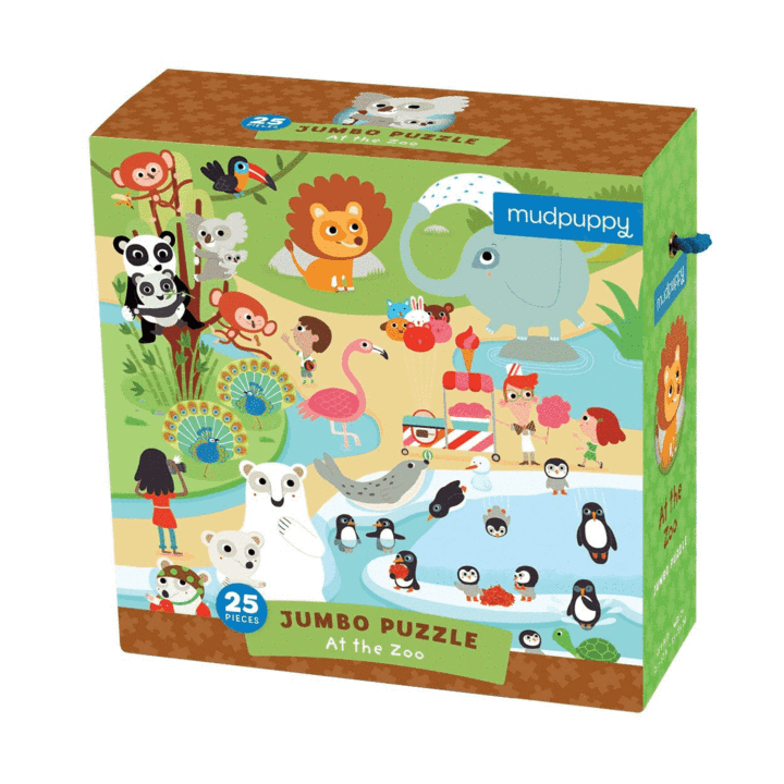 Jumbo 'At the Zoo' Toddler Floor Puzzle