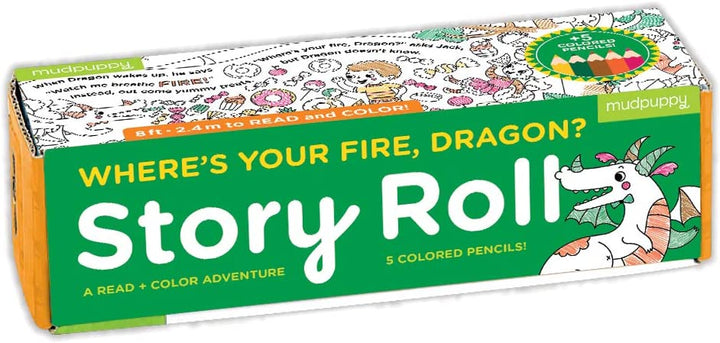 Where's Your Fire, Dragon? Coloring Story Roll for Kids