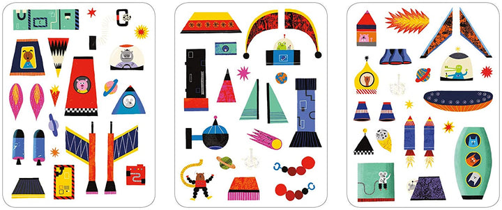 Magnetic Build It Rocket Ships Tin - magnets