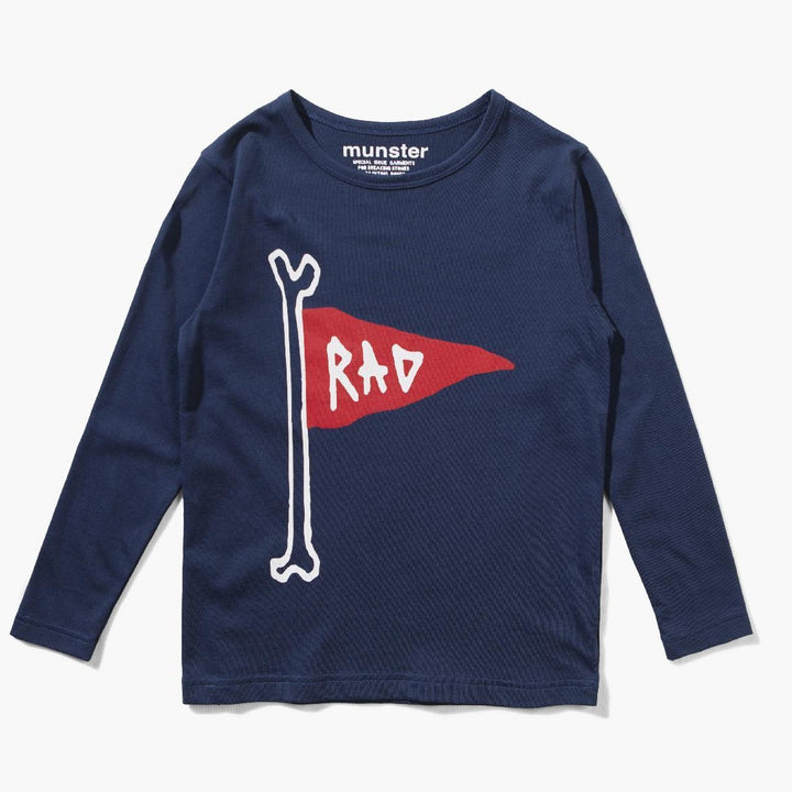 Munster Flag Pole Long Sleeve Tee (blue)