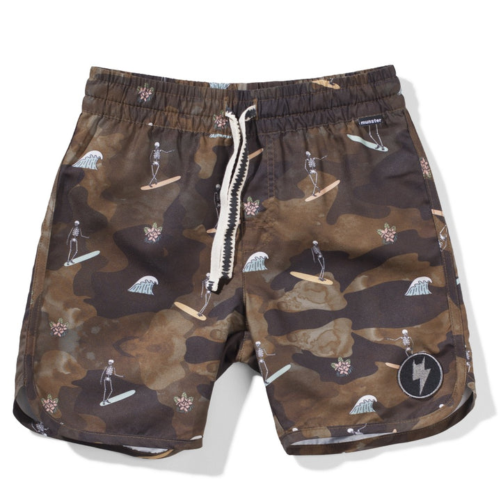 Munster Kids Skull Charger Board Short
