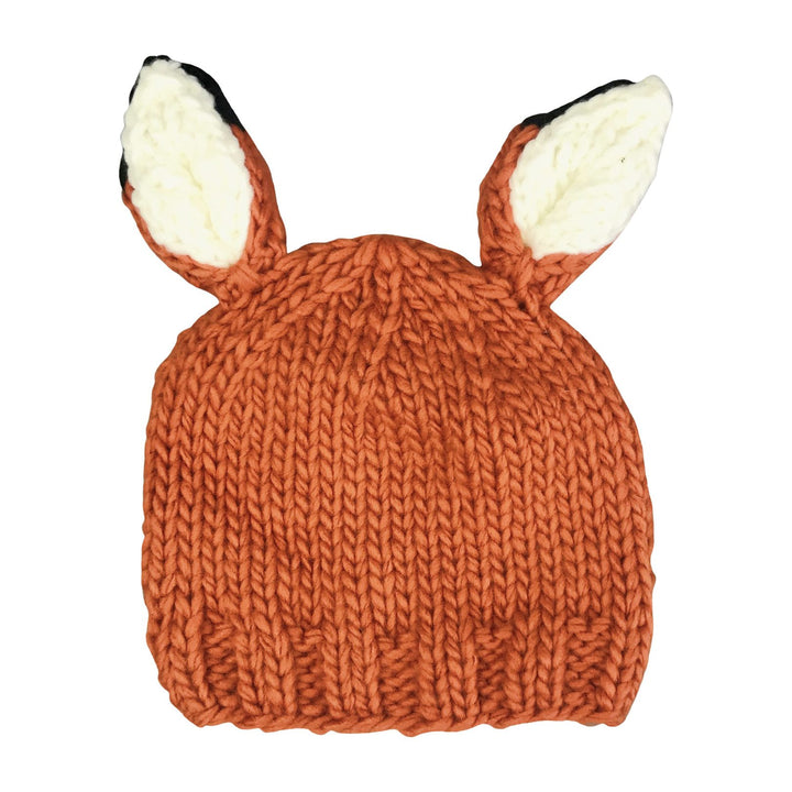 Woodland Fox Knit Beanie Hat (orange fox)