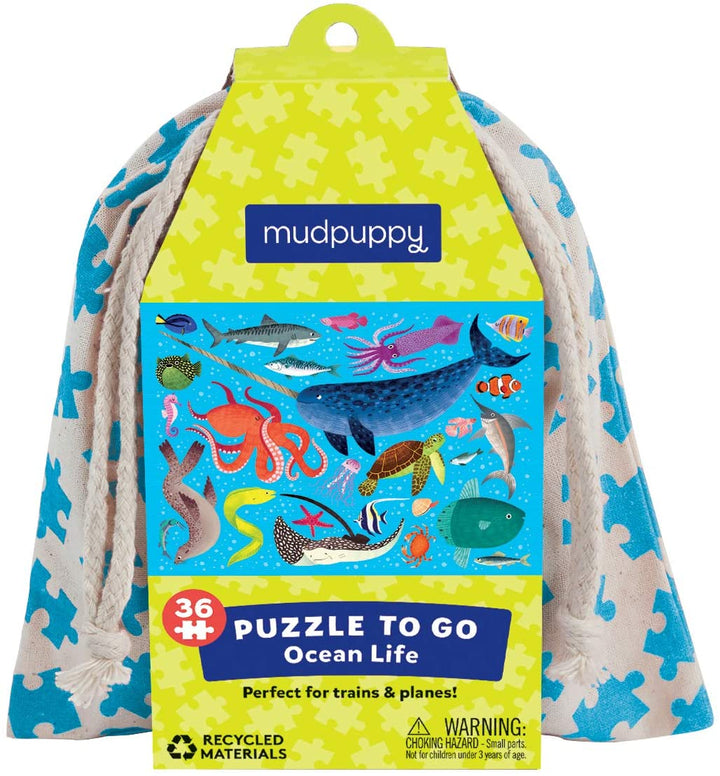 Ocean Life Puzzle-to-Go for Kids 3+, 36 pieces