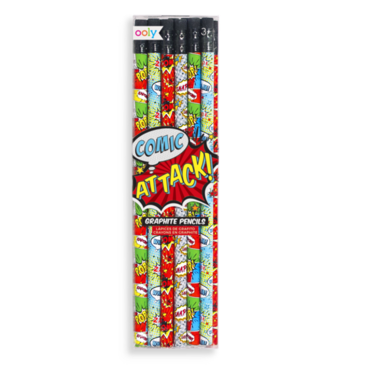 Comic Attack Pencil Set of 12