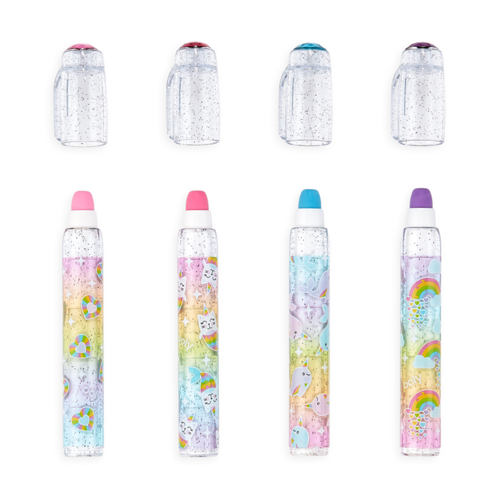 Gem Glitter Scented Eraser - 4 colors available