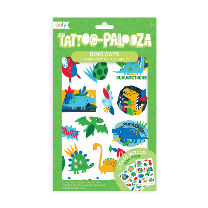 Dino Days Temporary Tattoos for Kids