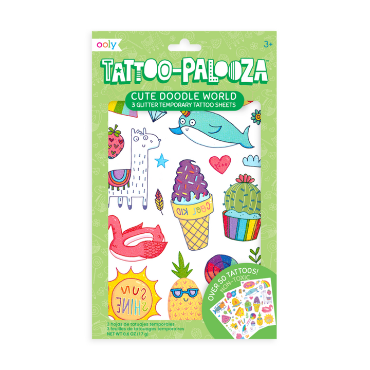 Temporary Tattoos - Cute Doodles