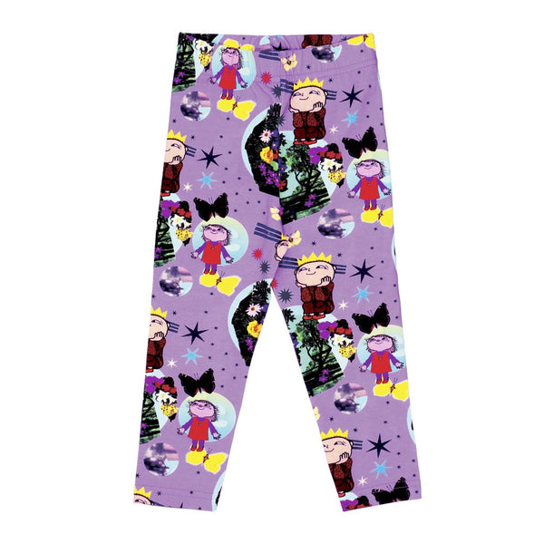 Organic Kids Leggings Raspberry Republic (purple)