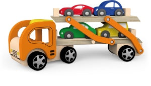 Wood Car Carrier Toy
