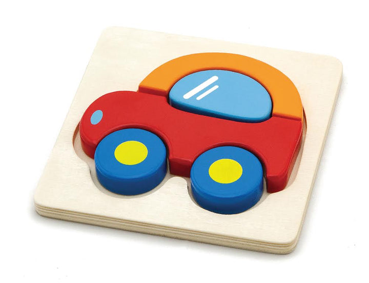 Chunky Wooden Car Puzzle