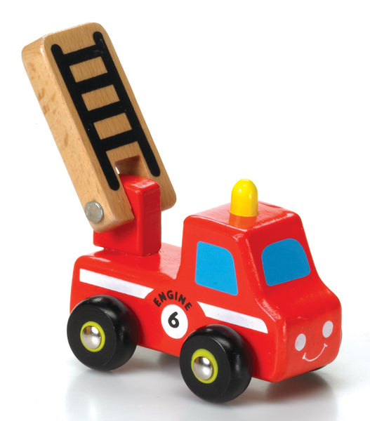 Wooden Mini Fire Engine Toy
