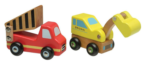 Wooden dump Truck and Crane Play Toys