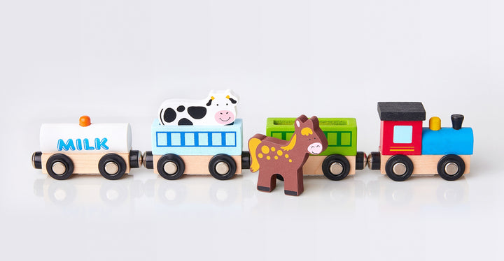 Wood Animal Farm Train