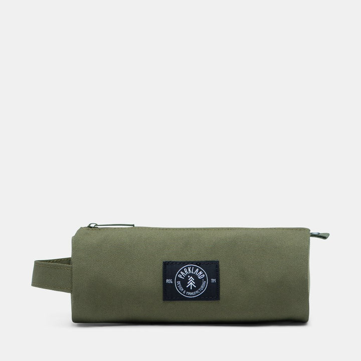 Parkland pencil case made from recycled bottles - army green