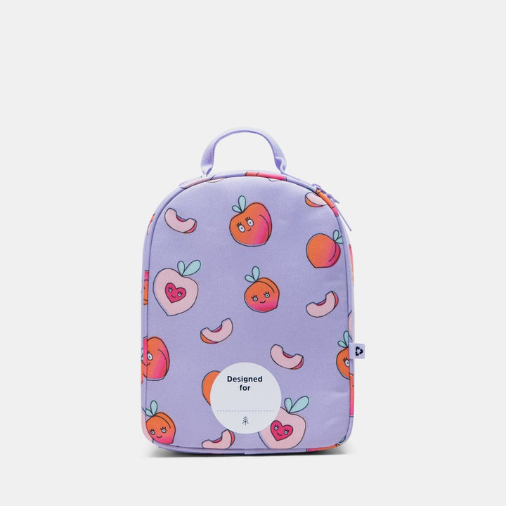 Parkland lunch box peach print - back with name label
