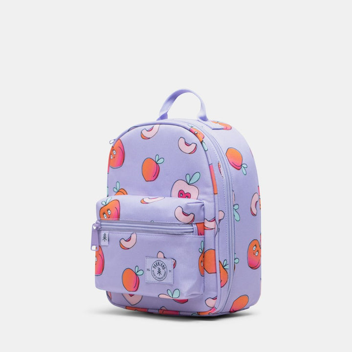 Parkland lunch box - peach print lavender