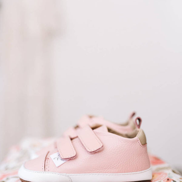 Baby Soft Soled Tennis Shoe (pink)