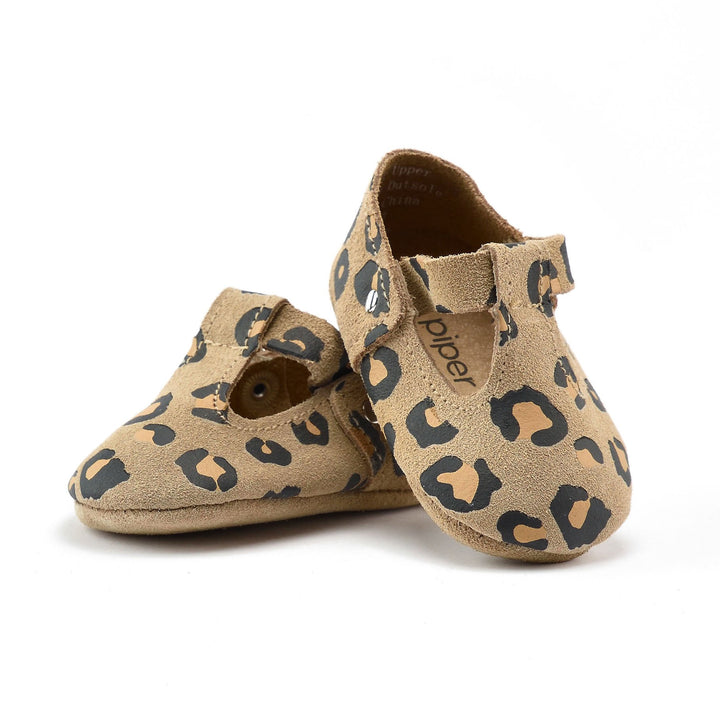 Leather Baby Jane Infant Shoes Leopard Print