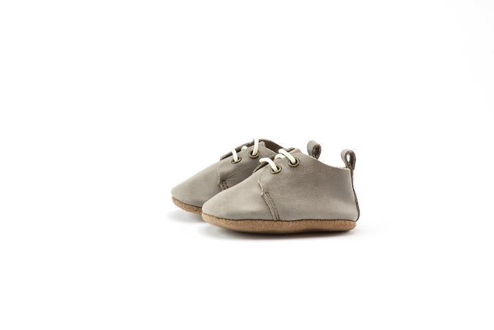 Piper Finn Leather Baby Oxford (stone)