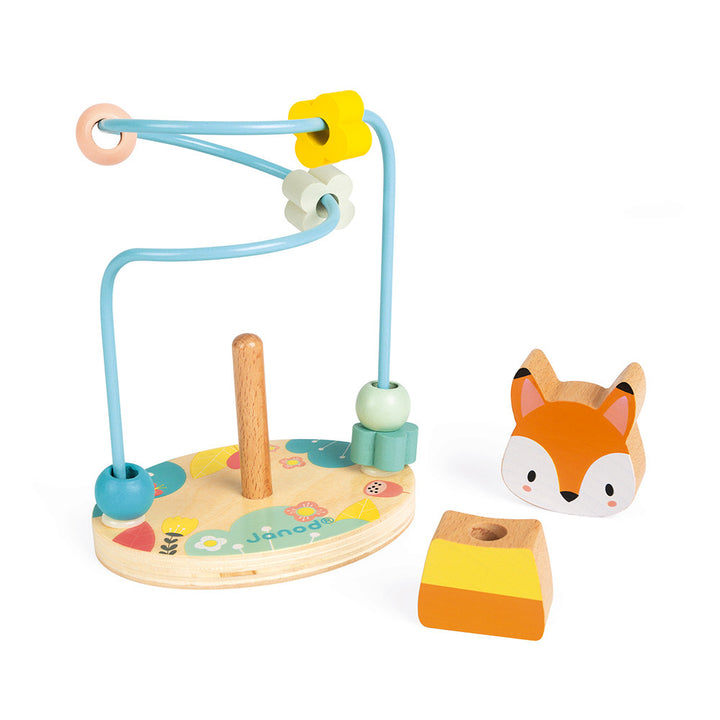 Janod Wooden Fox Puzzle and Looping Toy