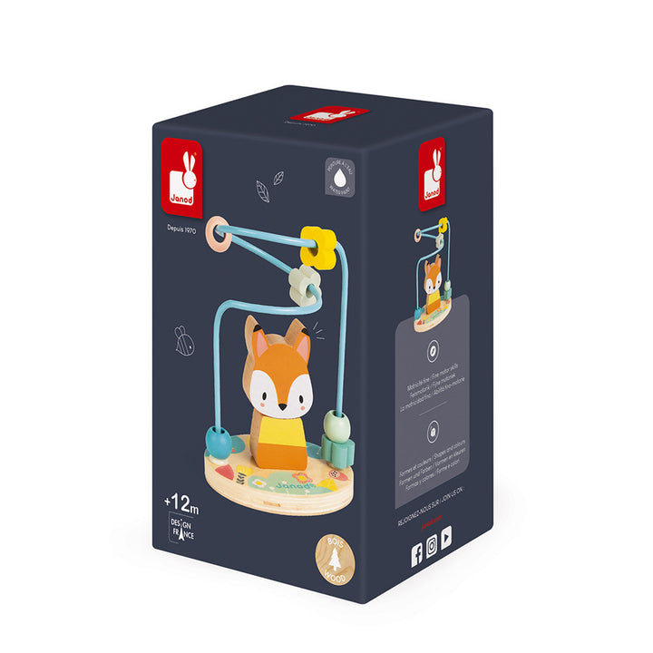 Janod Wooden Fox Puzzle and Looping Toy - box