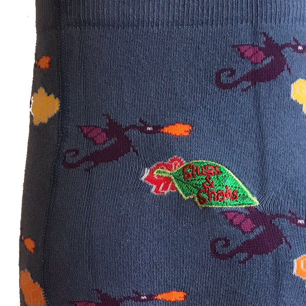 Dragon Print Tights for Kids - closeup