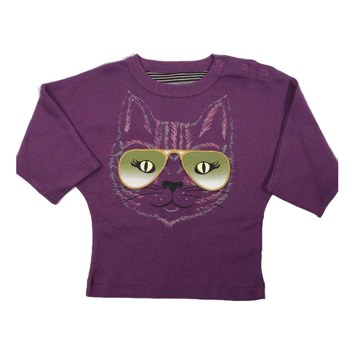 Milk on the Rocks Baby Cat Eyes Tee (purple)