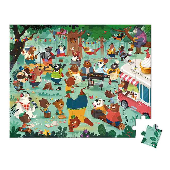 Family Bears Puzzle with Carrying Case - layout