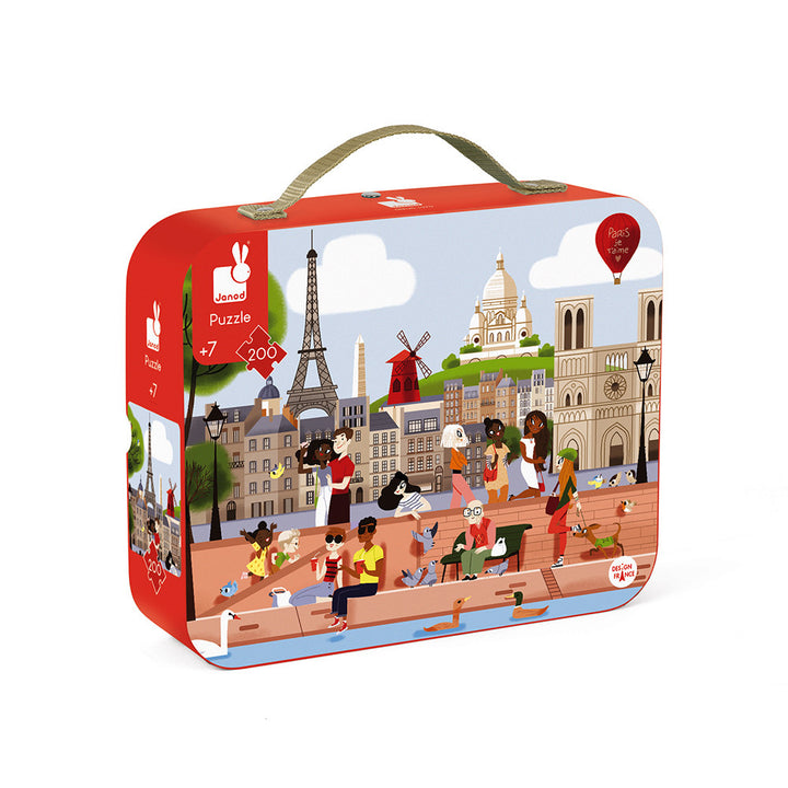 Janod Paris Puzzle with Carrying Case for 7 yrs and up