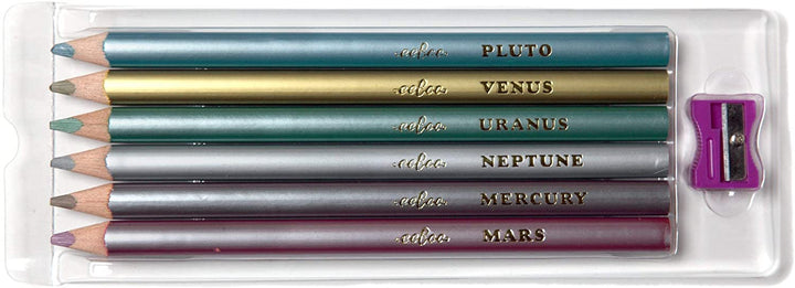 Metallic Color Chunky Pencils & Sharpener for Kids 3+ - inside