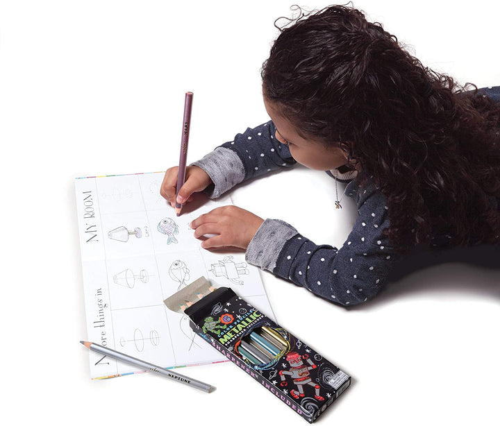 Metallic Color Chunky Pencils & Sharpener for Kids 3+ - lifestyle