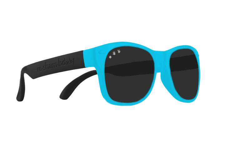 Roshambo Polarized Toddler Shades (black/teal)
