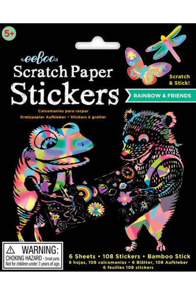 Rainbow & Friends Scratch Paper Stickers