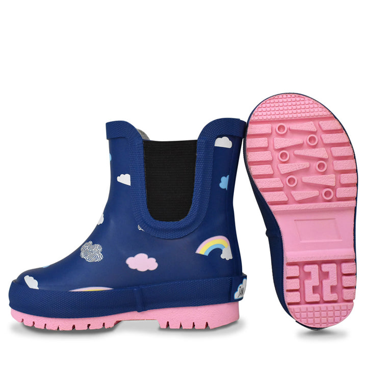 Natural Rubber Kids Rain Boots (rainbow)