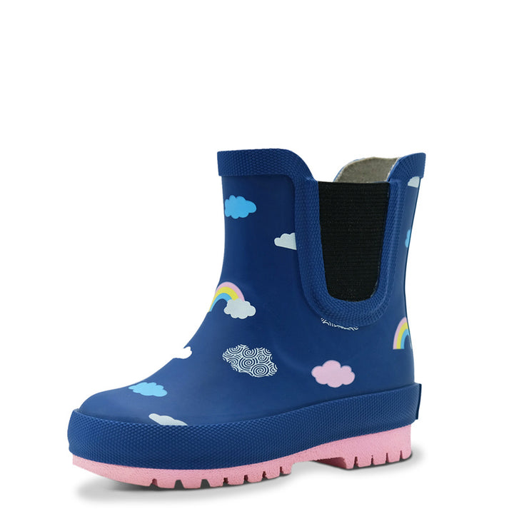 Natural Rubber Toddler Rain Boots (rainbow)