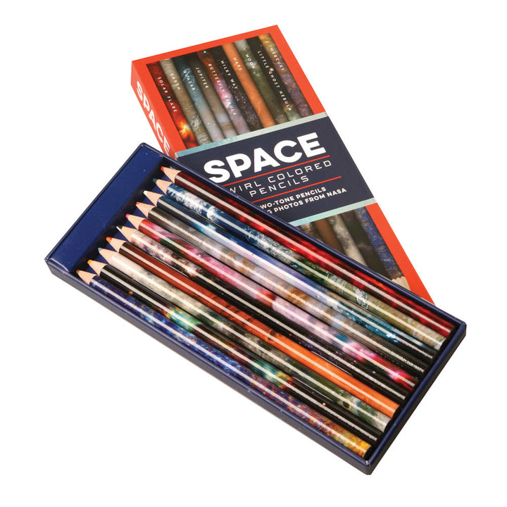 Space 2-tone Colored Pencils -Pack of 10 box