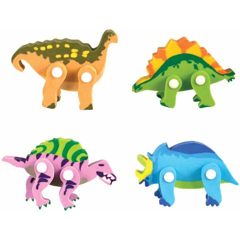 Streamline Imagined Movable Dinosaur Puzzle Eraser