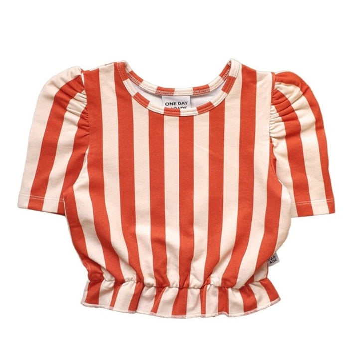 One Day Parade Girls Striped Crop Top