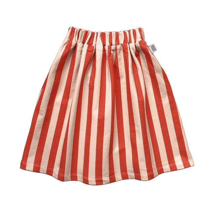 One Day Parade Striped Mid-Calf Skirt