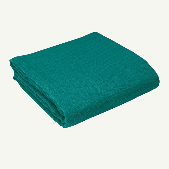 Organic Swaddle Newborn Blanket - teal
