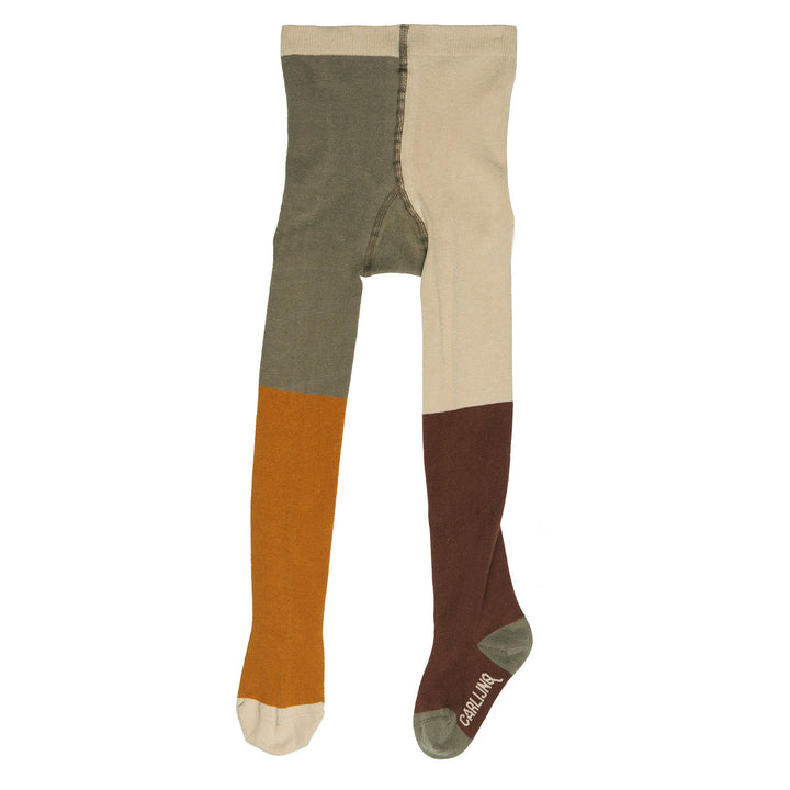 Four Square Tights by CarlijnQ (brown/cream/green)