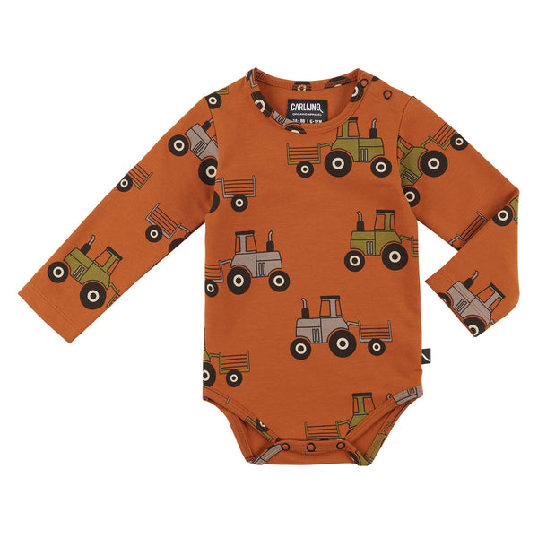 CarlijnQ Tractor Onesie (orange)