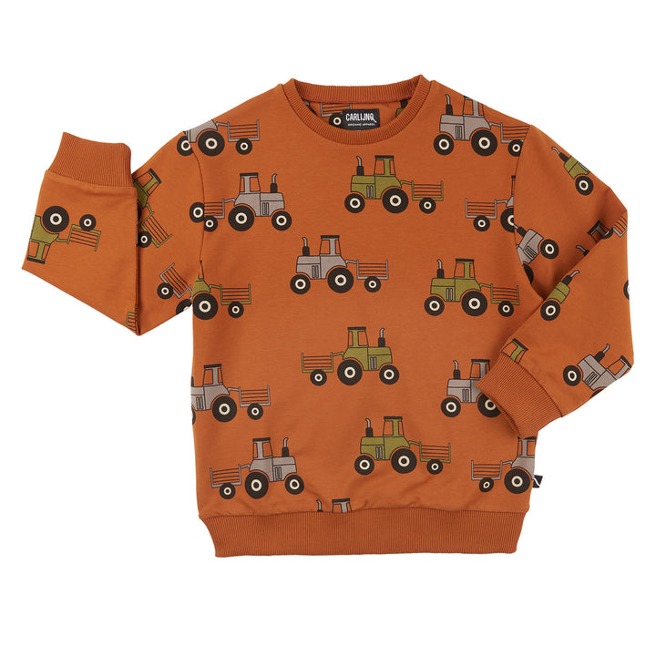 Carlijnq Tractor Sweatshirt (orange)