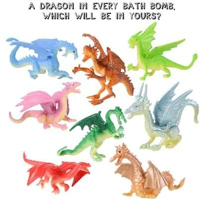 Dragon Surprise Kids Bath Bombs - one surprise in each
