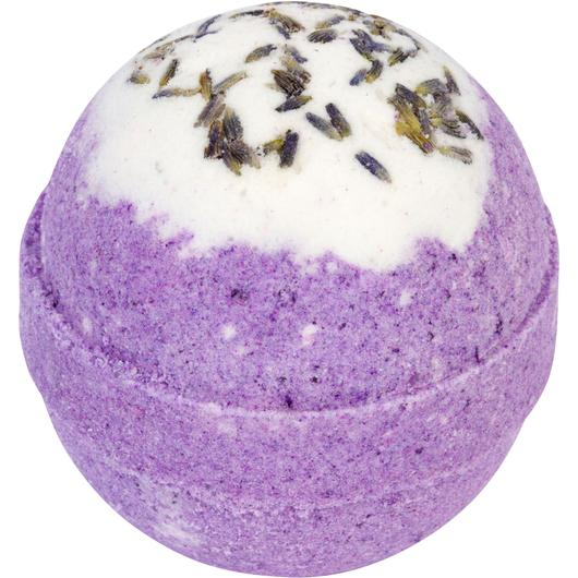 Relaxing Lavender Bubbling Bath Bomb - opened