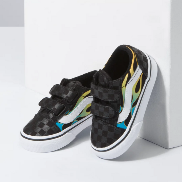 Vans Old Skool V Glow-in-the-Dark Flame Toddler Shoe