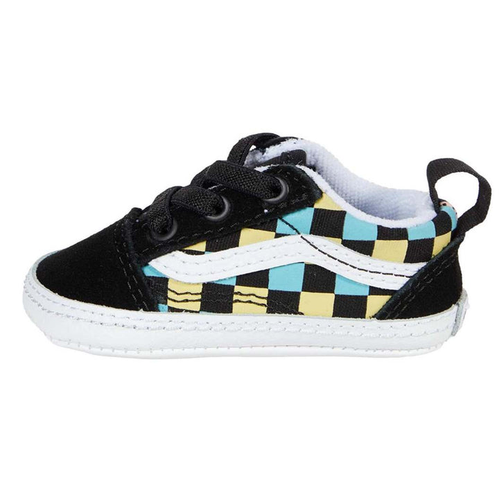 Vans Neon Glow Check Crib Shoe