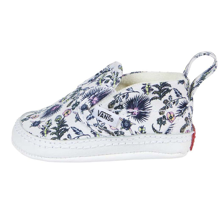 Vans Floral Girls Crib Shoe - side view