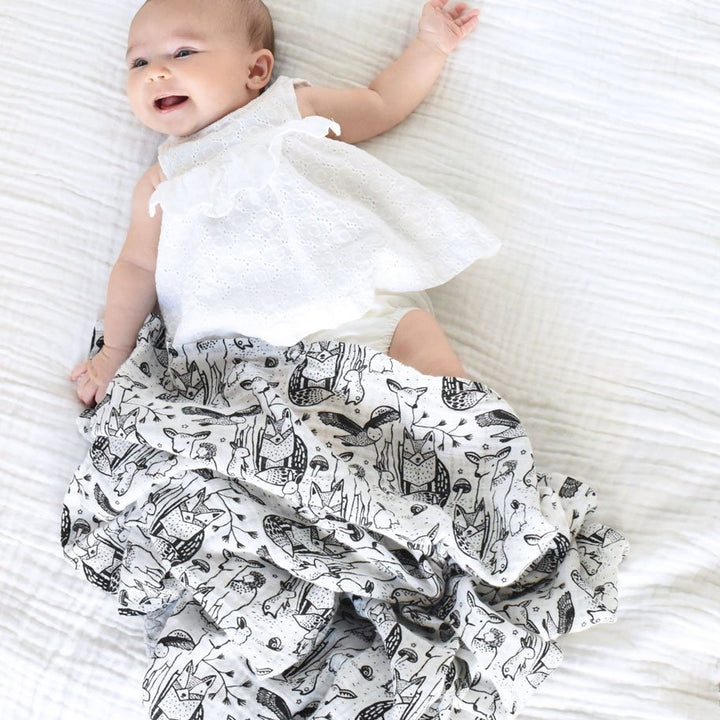 Organic Muslin Forest Swaddle